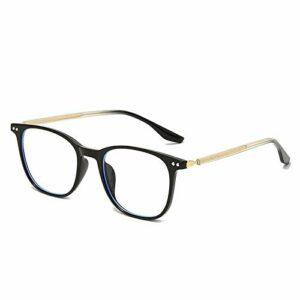 Lunettes anti-bleu à la mode, lunettes anti-bleues tendance hommes et femmes, lunettes à monture carrée – Monture noire