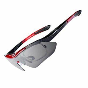 Lunettes de cyclisme polarisées hommes lunettes de soleil de sport route vtt VTT vélo équitation Protection lunettes lunettes 5 lentille