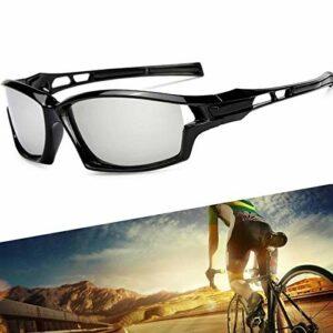 Lunettes de Cyclisme pour Hommes, Lunettes de Soleil de Cyclisme Sportives polarisées lentilles Anti-UV400 pour Courir Conduite pêche Golf Baseball,C2