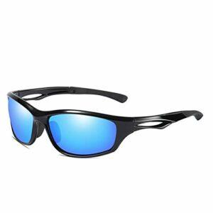 Lunettes de Soleil polarisées pour Hommes de Sport pour Le Ski, Conduite de Golf, Course à Pied, Cyclisme Tr90, Conception de Cadre Super léger pour Hommes et Femmes