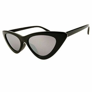 Lunettes de soleil triangulaires européennes et américaines pour femme – Lunettes de soleil tendance œil de chat transparentes – Monture grise – Prise de vue physique