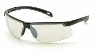 Pyramex Ever-Lite léger Lunettes de sécurité, Mixte, Black Frame/Indoor/Outdoor Mirror Lens