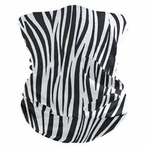 Taroot AA Strpe Zebra Skin Outdoor Masque Coupe-Vent Sports Demi-Masque Facial Masque de Ski Cood Weather