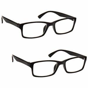 The Reading Glasses Lunettes de Lecture Noir Lecteurs Valeur Set de 2 Designer Style Hommes Femmes RR92-1 +3,50