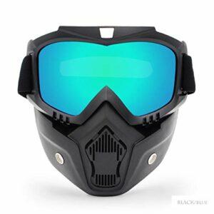 TYHDR Hommes femmes Ski Snowboard masque motoneige Ski lunettes coupe-vent Motocross Protection UV moto lunettes avec bouche filtre