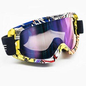 TYHDR Lunettes de SkiAnti-buée grand masque de Ski lunettes Ski neige hommes femmes Snowboard cyclisme lunettes de moto