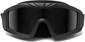 Airsoft Goggles, Sports de Plein air Militaires Airsoft Goggles Tactiques, avec 3 Verres interchangeables, Lunettes de tir Anti-UV
