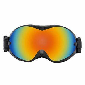Amagogo Lunettes de Neige d'hiver Lunettes de Sport Ski Lunettes de Soleil de Snowboard – Black Frame Red Lens