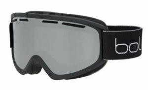 bollé Freeze Plus Masques de Ski Unisex-Adult, Black Matte/Black Chrome Cat.3, Medium
