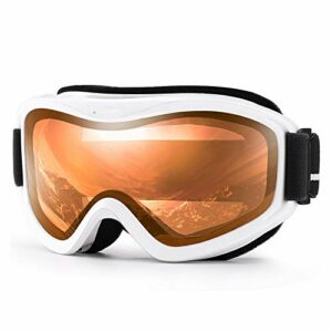 CCSMT Extérieur Lunettes de Ski, Sports de Neige d'hiver avec Anti-Brouillard Double lentille Masque de Ski Lunettes Ski Hommes Femmes Neige Jaune Lunettes de Neige pour Hommes, Femmes et Jeunes