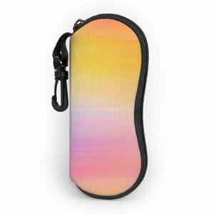 Étui souple pour lunettes de soleil pour femmes et hommes, étui à lunettes à glissière en néoprène ultra léger avec clip de ceinture, couleur abstraite aquarelle Aquarelle Baground