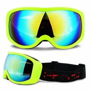 Extérieur Adulte snowboard ski lunettes de ski anti-brouillard UV400 Ski de ski neige moto Sunglasses électroplasques de mot de moto cross-countrys casque visage masque hommes et femmes pour hommes, f