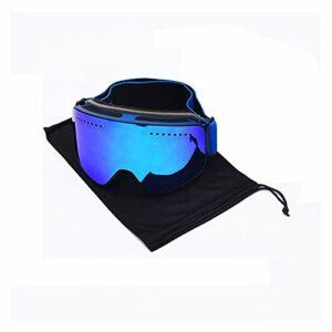 Extérieur Lunettes de Ski Snowboard Snowboard Snowboard Snowboard Anti-Fog UV400 Protecteur Masque de Ski de motoneige pour Hommes, Femmes et Jeunes (Color : FJ037 H BD)