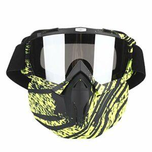 ffu Cyclisme Lunettes De Vélo, Lunettes De Moto, Hommes Et Femmes Verres De Motoneige Verres à Coupe-Vent Sunglasses De Masque Extérieur Vert