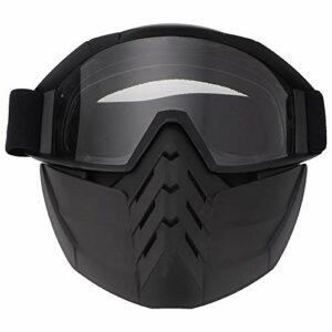 ffu Lunettes De Protection, Masque De Pare-Brise pour Motocyclettes De Ski De Neige d'hiver (Transparent)