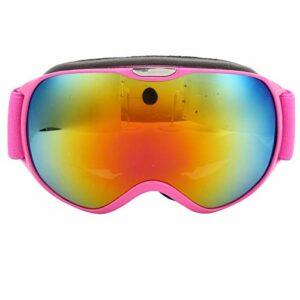 ffu Lunettes de ski anti-buée et coupe-vent à double verre rose