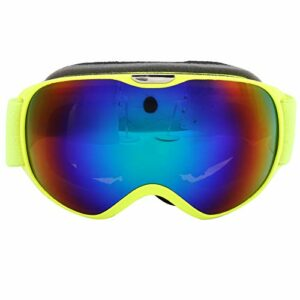 ffu Lunettes de ski – Anti-buée et coupe-vent – Double lentille – Jaune