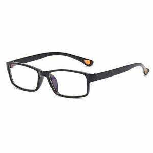 GLASSES Lunettes de Lecture rétro Anti-Blu-Ray Ultra légères et Portables TR90 Lunettes de Lecture Noires à Cadre Complet pour Hommes