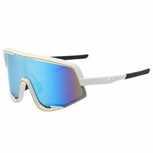 Gosunfly Lunettes de soleil pour hommes lunettes de soleil à grande monture lunettes de sport de vélo lunettes de cyclisme en plein air-NO.2