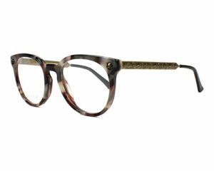 Gucci – Monture de lunettes – Femme Noir marmor stil mix – bedruckt messing 50