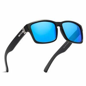 GWQDJ Lunettes De Soleil Sports Polarisés pour Hommes, HD Golf Pêche Vélo Lunettes De Vélo Lightweight Driving Sun Lunettes 100% UV400 Protection E