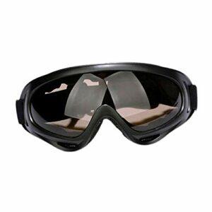 Harilla Lunettes de Ski Unisexes, Verres de Protection PC UV 400 Coupe-Vent Anti-poussière Lunettes de Neige – Fauve, 18×8 cm