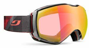 Julbo Aerospace Masque de Ski avec écran REACTIV Photochromique pour Hommes, Rouge/Gris, XL