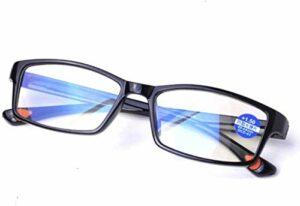 Lunettes de lecture Unisexe lunettes de lecture, Anti-bleu clair lunettes de téléphone mobile, HD Confort Plein cadre Hommes et Femmes de lunettes for lire lunettes (Color : Black, Size : +2.0)