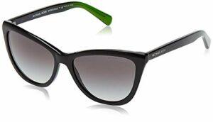 Michael Kors Divya 321611 57 Montures de lunettes, Noir (Black/DK Grey Gradient), Femme