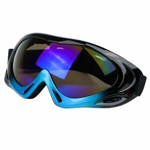 Milageto Mode Snowboard Snowmobile Pro Ski Lunettes Hommes Femmes Anti Brouillard UV Protection – Bleu Noir