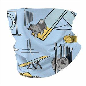 Nother Keeshond Masque de ski multifonction pour chien Bleu