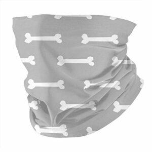 Nother Masque de ski multifonction en forme d'os pour chien Gris