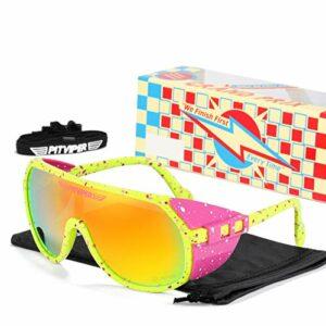 Pit Viper Lunettes De Soleil Polarisées Sports UV400 Protection Cyclisme Eyewear pour La Course en Plein Air Golf De Pêche À La Pêche E