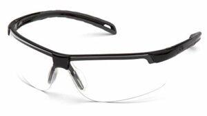 Pyramex Ever-lite léger Lunettes de sécurité, mixte, Black Frame/Clear Anti-Fog Lens