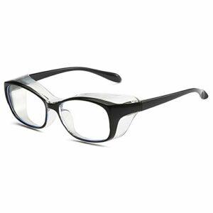 QIULAO Lunettes anti-pollen adultes, lunettes de protection en trois dimensions enveloppées.Anti-brouillard, anti-bleu, anti-goutteletlet, anti-poussière, adapté aux lunettes de sécurité portées par l