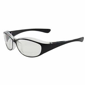 QIULAO Lunettes anti-pollen, ailes prolongées, anti-rayonnement, lumière anti-bleue, anti-goutteletlet, anti-poussière, anti-brouillard, adapté aux lunettes de sécurité portée par les hommes et les fe