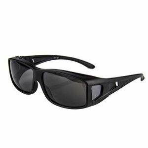 QIULAO Lunettes de soleil à lunettes anti-pollen, lunettes de soleil polarisées de myopie, anti-goutte, anti-poussière, lunettes de sécurité adaptées aux adultes hommes et femmes, lunettes de myopie g