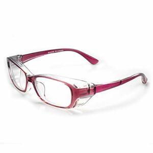 QIULAO Verres d'allergie anti-pollen, anti-vent, sable, poussière, gouttelettes, anti-brouillard, lunettes de sécurité anti-ultraviolet, adaptées aux adultes hommes et femmes portent des lunettes de s