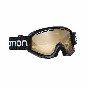 Salomon, Juke Access, Masque de ski pour enfants (6-12 ans), Noir/Universal Tonic Orange, L40848100
