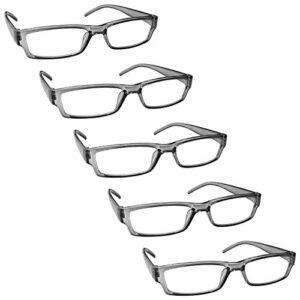 The Reading Glasses Lunettes de Lecture Gris Valeur Set de 5 Léger Hommes Femmes RRRRR32-7 +2,50