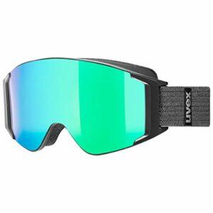 uvex g.gl 3000 TO, lunettes de ski Adulte unisexe, black mat/green-lasergold lite, one size