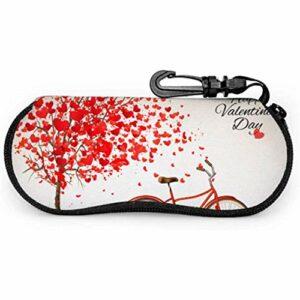 WCHAO Saint Valentin vélo arbre fait des étuis à lunettes pour garçons étui à lunettes enfantsPortable Zipper étui souple femme étui à lunettes