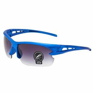 ZPL Extérieur Cyclisme Lunettes Lunettes De Soleil Polarisées Anti-UV Coupe-Vent Ombres TR90 Matériel Qui Convient pour Cyclisme Et Alpinisme,Blue Frame Black Film