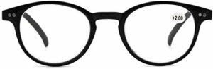 ZZAI Lunettes de lecture Hommes Femmes Bleu Légumes Lumières et lunettes Vintage Verres d'ordinateurs ronds Vintage (Couleur : C1 Blue Light, Size : +250)
