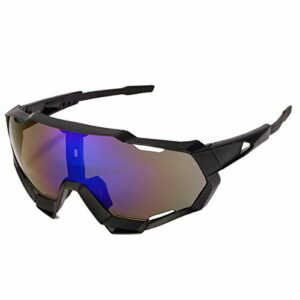 Aiovemc Lunettes de vélo lunettes de soleil de sport VTT lunettes de cyclisme sur route lunettes UV400 de protection hommes et femmes
