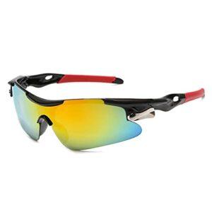 Aiovemc Lunettes de vélo UV400 hommes et femmes Sports de plein air VTT lunettes de vélo lunettes de soleil coupe-vent lunettes de conduite