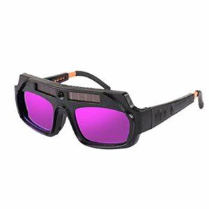 Casque de soudage, 1pcs variation automatique lunettes de soudage lunettes anti-éblouissement SOUDAGE ARC Verres d'argon lunettes de sécurité (Couleur : Black)