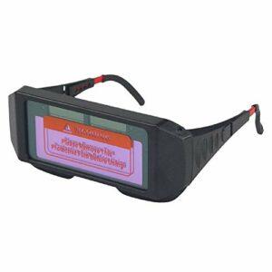 Casque de soudage, Verres soudées de haute qualité Protection Lunettes de protection Automatisation Sécurité Sécurité légère Energie solaire résistant à l'usure lunettes de sécurité
