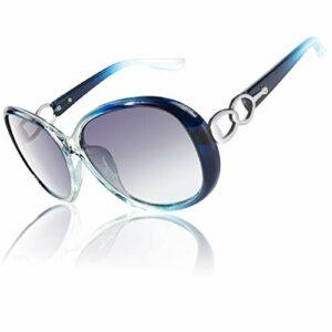 CGID Retro grand cadre Designer surdimensionné Ladies Lunettes de soleil pour femmes Lunettes de soleil UV Polarized Shades Lunettes avec strass MJ85