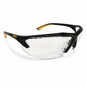 DEWALT DPG106 Spector In-Viz Bifocal Safety Glass – Black/Yellow Frame – Clear Lens – 2.5 Diopter, DPG106-125D